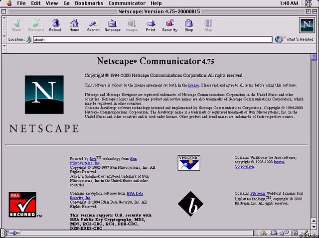 case on netscape Netscape commerce server (bundled packages of netscape navigator and netscape commerce server accounted for about 10% of total revenues in the first quarter this was a leading client software program that allowed individual personal computer users to exchange information and conduct commerce on the internet.