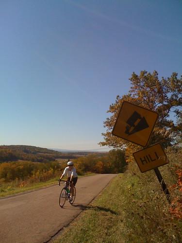 Hill! One of the climbs on the Casselman Ass Blaster