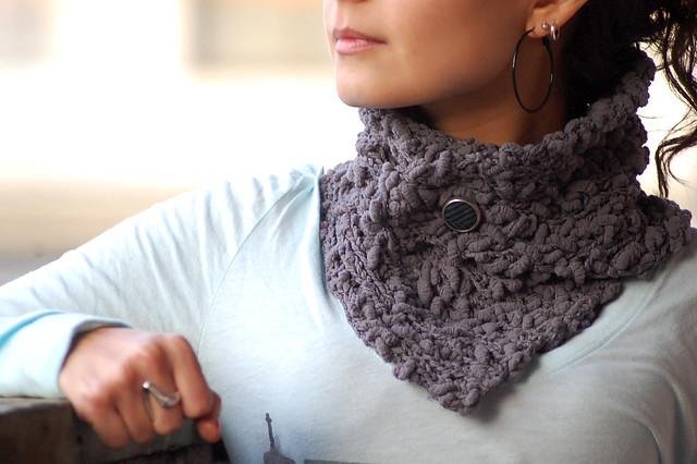 Cuello lana dos agujas - Imagui
