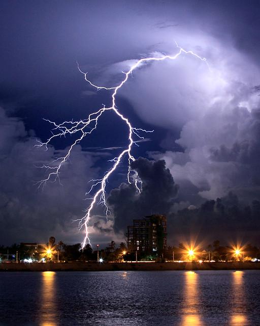 Lightning Over the Tonle Sap