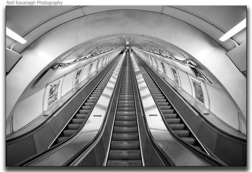 blackwhite prague metro escalator steps czechrepublic canon5d můstek infiniteview canon1740mmlseries