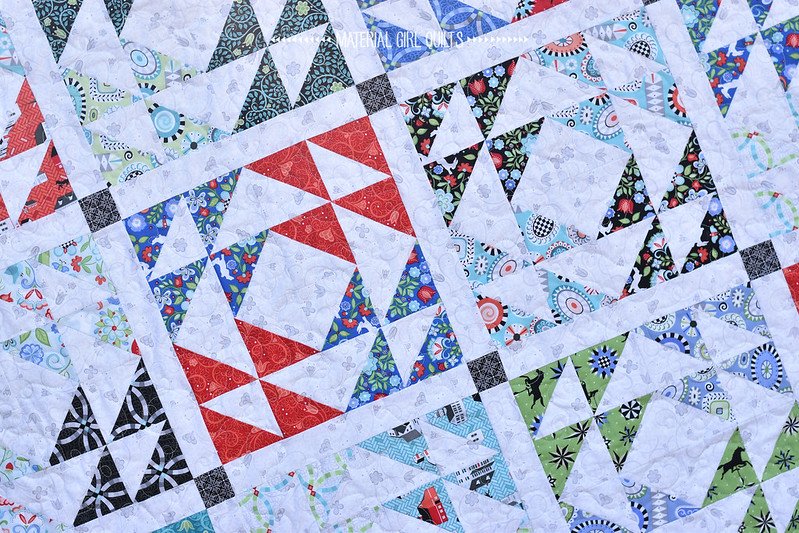 Kaleidoscope Windows Quilt by Amanda Castor of Material Girl Quilts