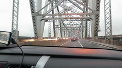 Driving from New York to Philadelphia at Outerbridge Crossing 2015
