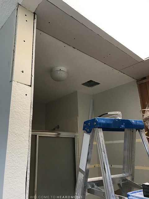 Drywall Installed Entrance | Welcome to Heardmont