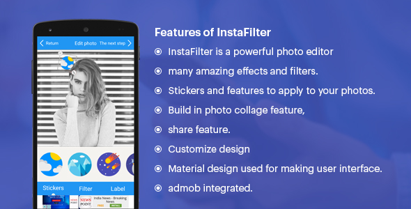 Insta Filter v1.0 (Fun with Photos & Stickers + Admob)