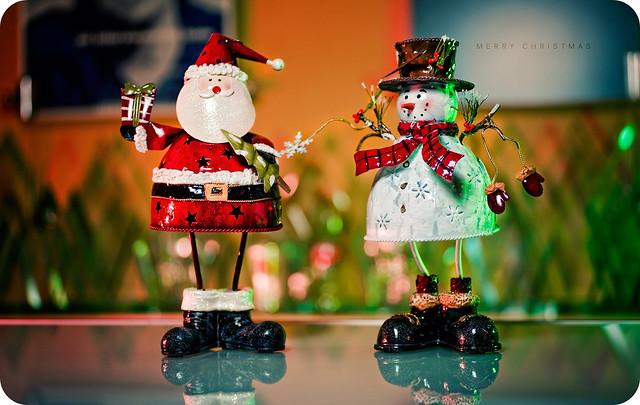 Merry Christmas - Santa & Frosty