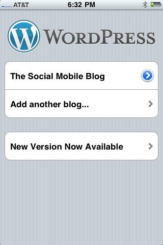 WordPress mobile on iPhone 3g