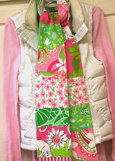 lilly scarf no.21 pink green2
