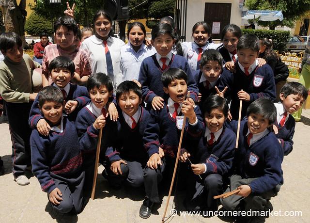 Curious Schoolkids - Potosi, Bolivia