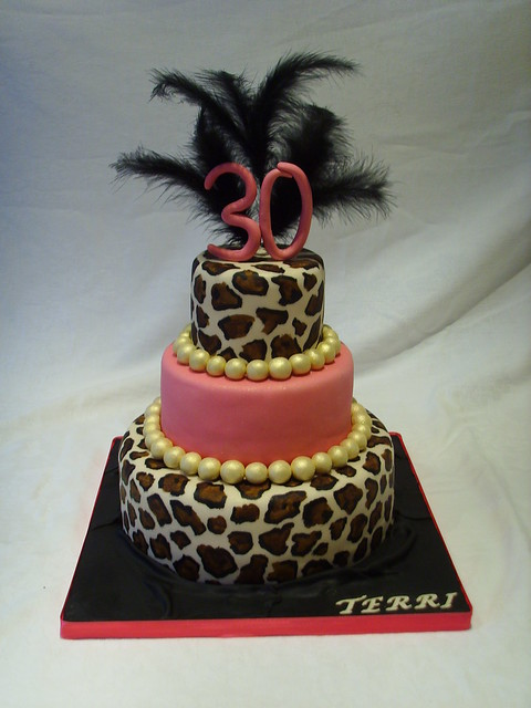 Leopard Print Birthday Cake Designs