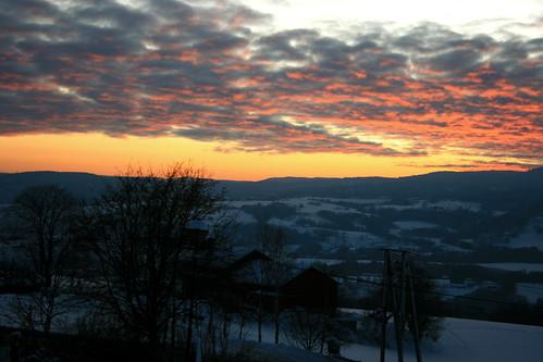 winter sunset snow cold norway evening norge europe scandinavia lier solnedgang østlandet tranby lierdalen buskerud