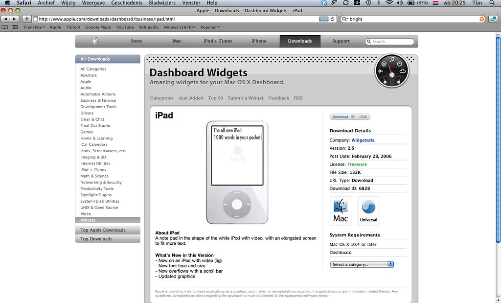 iPad 28 feb 2006