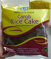 carob coated rice cake