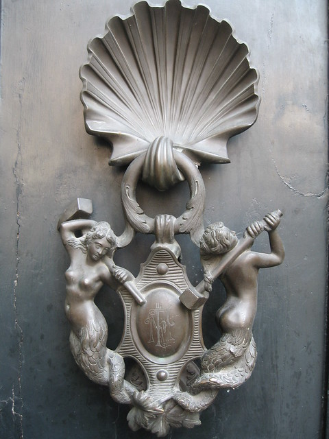 Mermaid door knocker rome flickr photo sharing - Mermaid door knocker ...