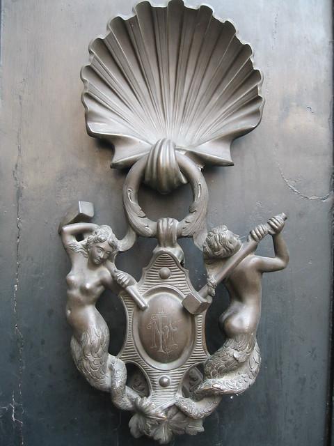 Mermaid door knocker rome flickr photo sharing - Mermaid door knocker ...