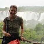 Audrey and Mist - Iguazu Falls, Argentina