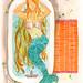 Monster: Mermaid Bathroom Orange by DH.