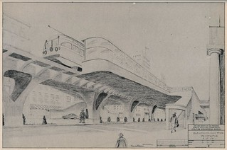 Rapid Transit for San Francisco: Elevated station (1952)