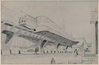 Rapid Transit for San Francisco: Elevated station (1952)