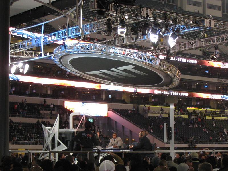 TNT set at the Dallas Cowboys Stadium