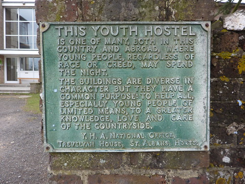 Old sign outside Truleigh Hill Youth Hostel