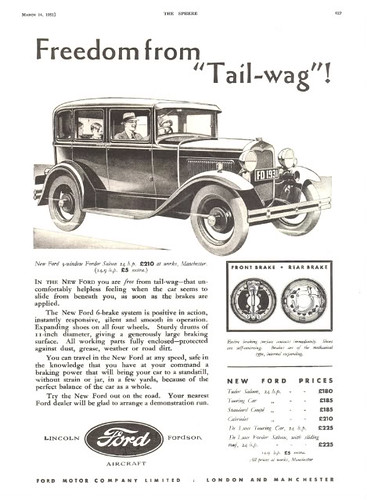 1931 Ford Model A (UK) | More 1928-31 Ford ads at: forum lov