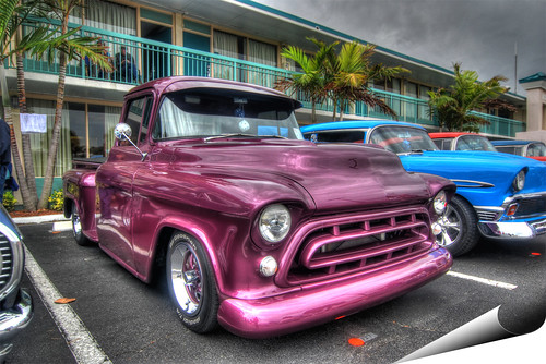 chevrolet truck florida pickup chevy 1957 hdr photooftheday chev cocoabeach photomatix 3exp gmfyi