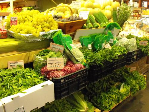 Vegetales y frutas frescas