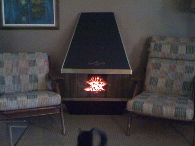 vintage electric fireplace flickr photo