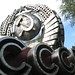 Discarded CCCP emblem in Art Muzeon Park by mattermatters