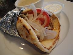 Cheap Eats: Chicken Souvlaki Pita With Avgolemono…