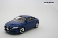 executive car(0.0), family car(0.0), model car(1.0), automobile(1.0), automotive exterior(1.0), audi(1.0), wheel(1.0), vehicle(1.0), automotive design(1.0), audi tt(1.0), bumper(1.0), land vehicle(1.0), luxury vehicle(1.0), coupã©(1.0), sports car(1.0),