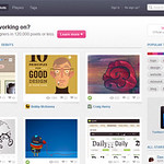 Dribbble social network for graphic designers