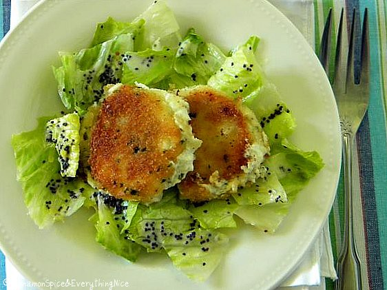 Pan Fried Goat Cheese with Creamy Lemon Poppy Seed Dressing | Flickr ...