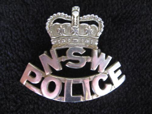 "N.S.W. Police ""Skeleton"" Cap Badge"