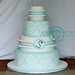 Damask and Ruffles... by The Well Dressed Cake