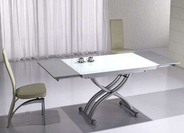 Table basse relevable rita verre alu neuf ebay - Table basse rouge et noir ...