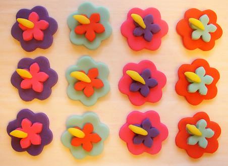 Flower cakes for kids