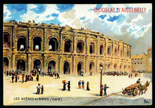 French Tradecard - Roman Arena, Nimes