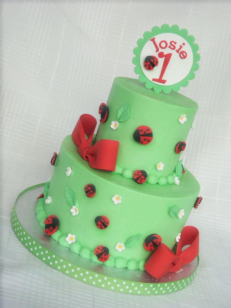 Magnificent Ladybug Birthday Cake A Variation Of The Same Design I Did Flickr Personalised Birthday Cards Veneteletsinfo