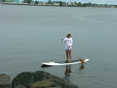 surface water sports, vehicle, sports, lake, water sport, stand up paddle surfing, paddle,