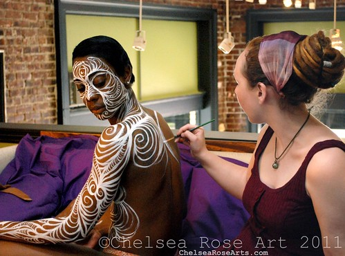 Body painting-process shot