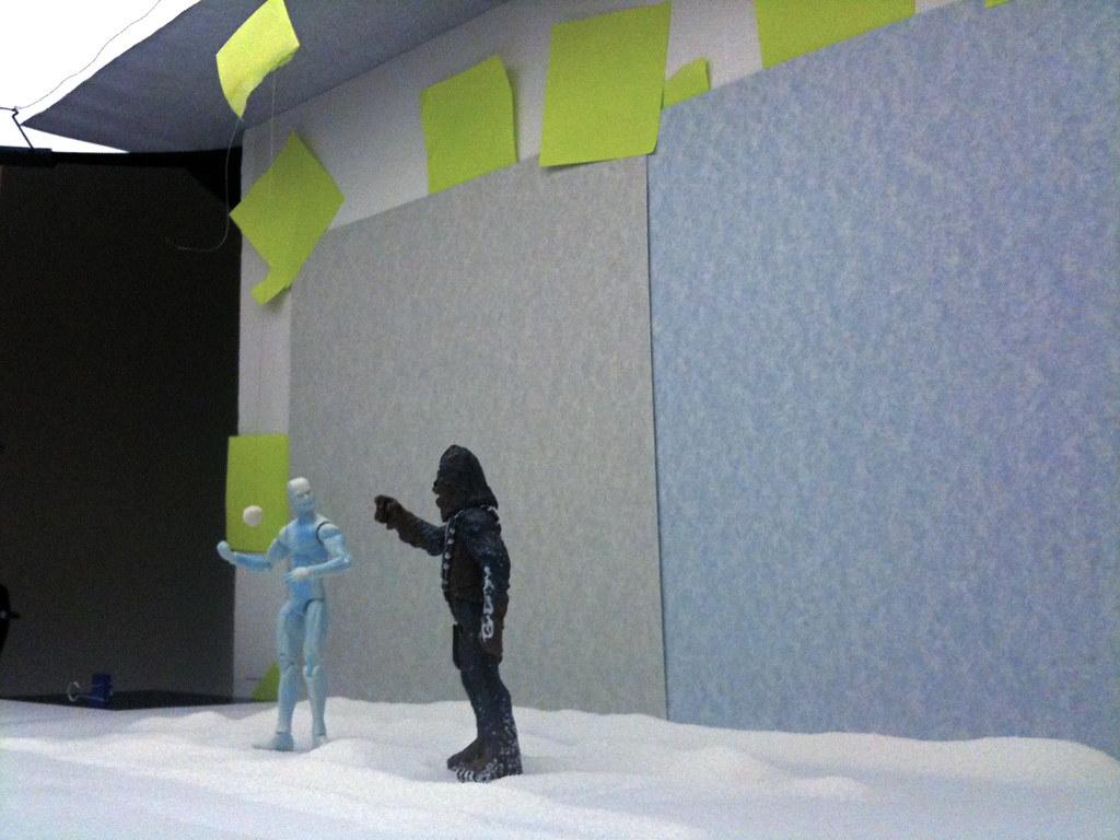 Iceman vs. Chewbacca Setup