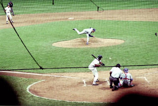 Nolan Ryan pitching - Tiger Statium 1990