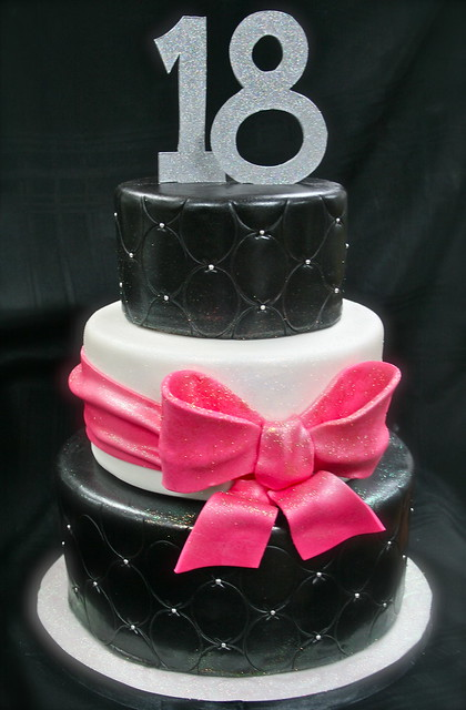 Girly 18th birthday cake flickr photo sharing for 18th cake decoration