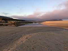 Sun coming up on the Carmel River Lagoon