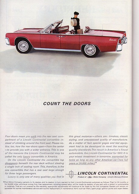 1962 lincoln continental ad flickr photo sharing. Black Bedroom Furniture Sets. Home Design Ideas