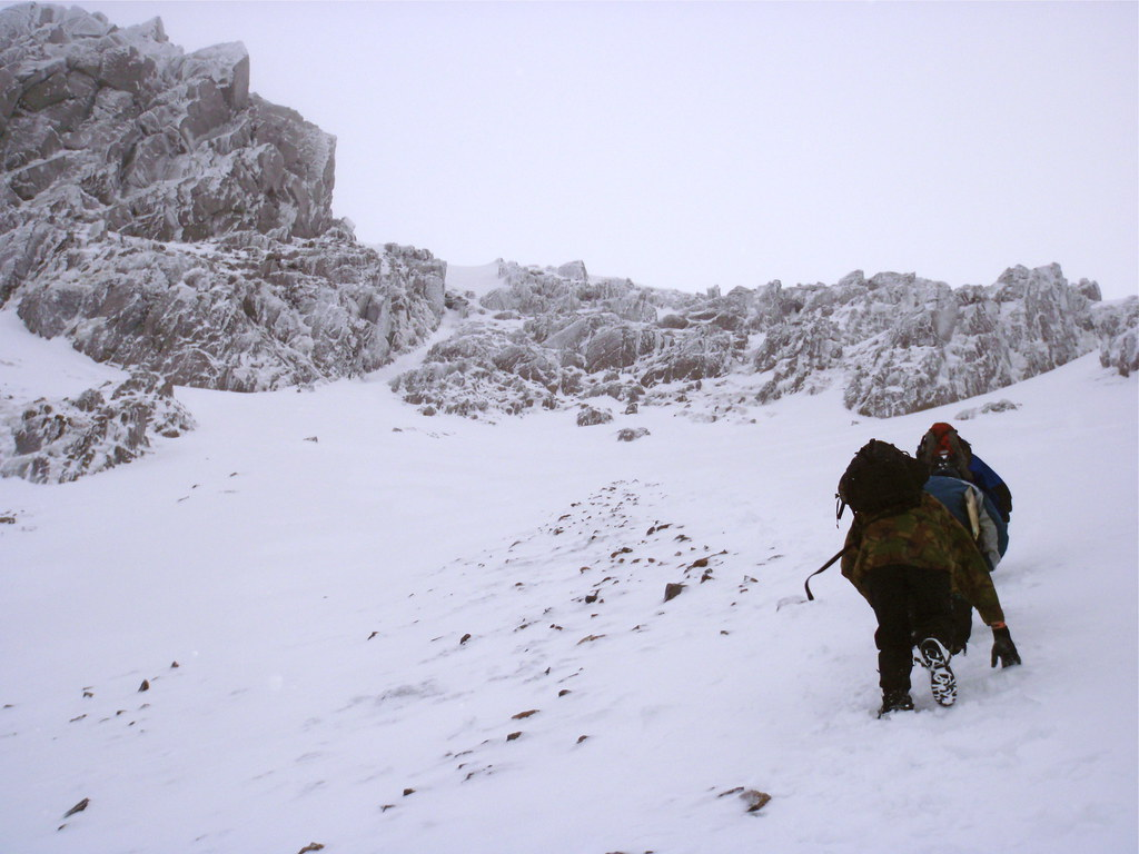 Winter climb on Scafell Pike