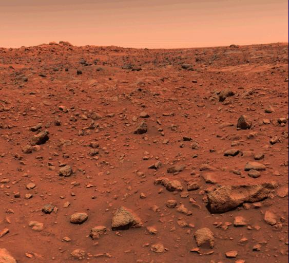 Mars, Viking Lander 1's first color image of Mars' surface