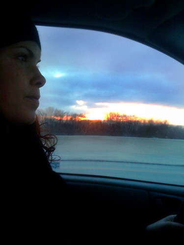 sunset selfportrait drive 365